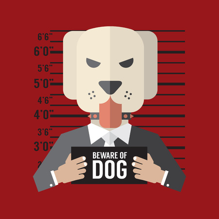 beware of the dog: Beware of Dog Vector Illustration