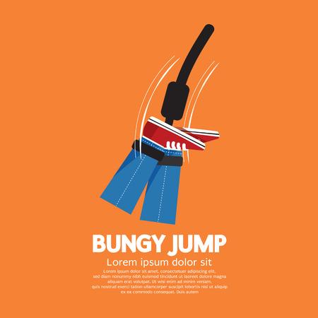 bungee jumping: Ilustración Bungy Jump Vector