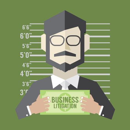 Business Litigation Concept Vector Illustration Vector