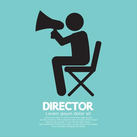 filmregisseur: Filmregisseur Symbool Grafische Vector Illustratie