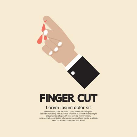 finger: Fingers Cut With Knife Vector Illustration