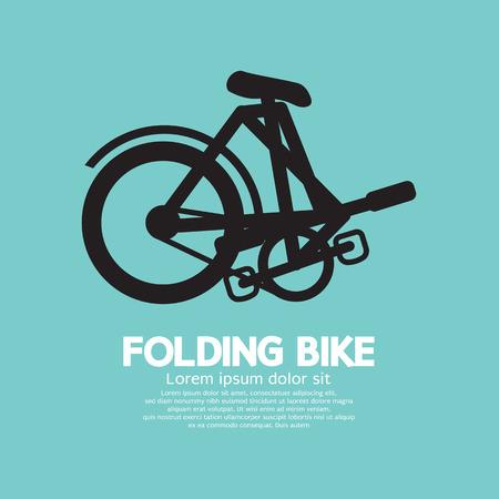 foldable: Single Folding Bike Graphic Vector Illustration Illustration