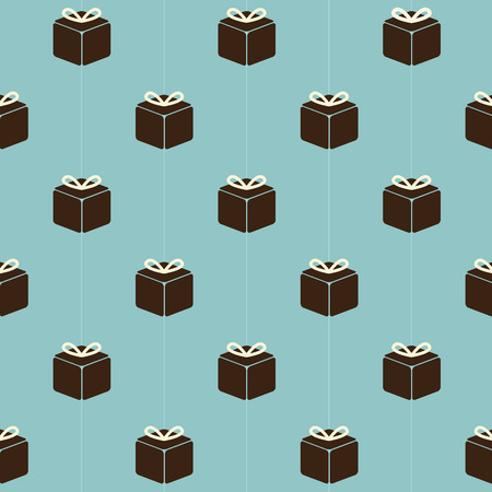 giftbox: Vintage Gift Boxes Pattern Background Vector Illustration Illustration