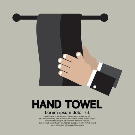 home accessories: Flat Design Hand Towel Vector Illustration
