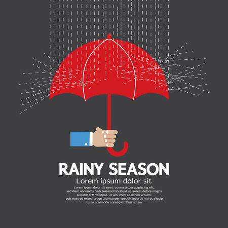 the rainy season: Rainy Season Graphic Vector Illustration