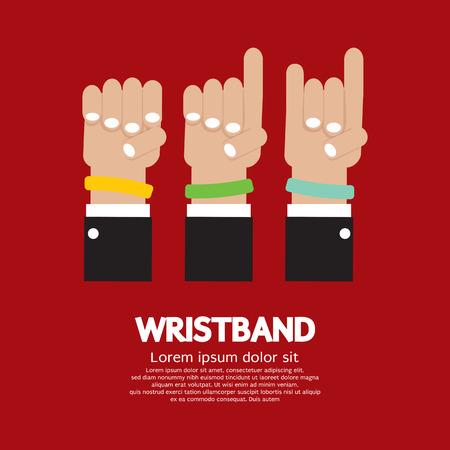 bracelet: Colorful Wristband Graphic Vector Illustration Illustration