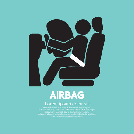 Airbag Car Safety Equipment Vector Illustration Illustration