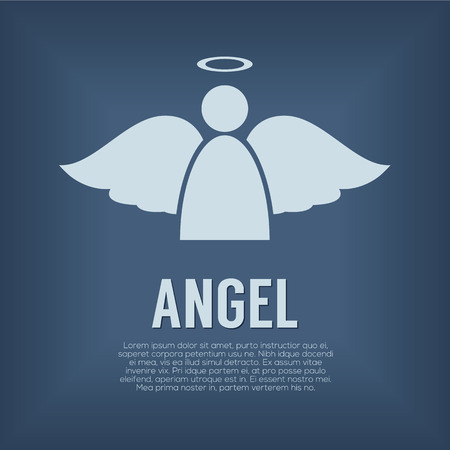 Single Angel Symbol Vector Illustration Illustration