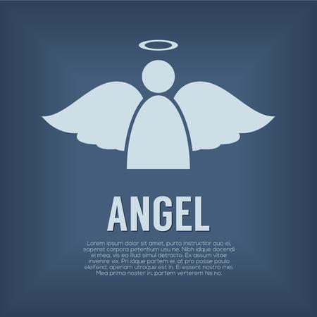 Single Angel Symbol Vector Illustration Illustration