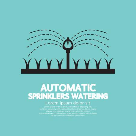 Automatische Sprinklers Watering Vector Illustratie
