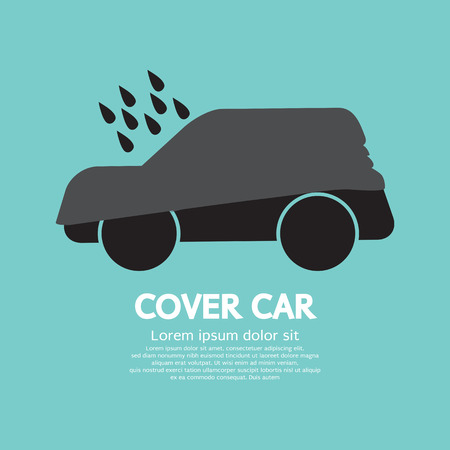 tarpaulin: Car Cover Graphic Vector Illustration