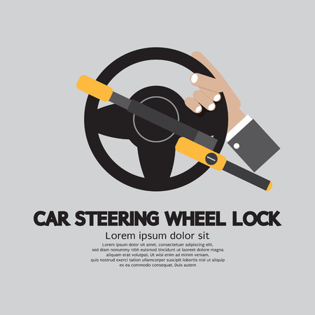 steering: Car Steering Wheel Lock Vector Illustration Illustration