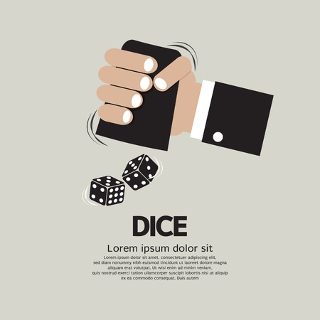 vices: Two Dices High or Low Gamble Vector Illustration Illustration