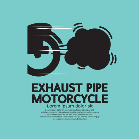 exhaust pipe: Exhaust Pipe Motorcycle Vector Illustration Illustration