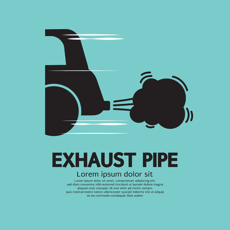 car pollution: Car Exhaust Pipe Vector Illustration