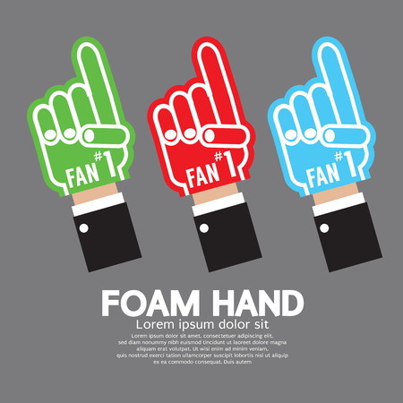 fingers: Set Of Foam Hand Vector Illustration