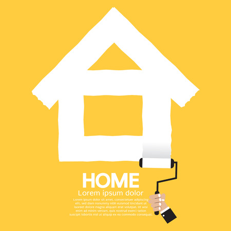 Paint Roller Home Concept Vector Illustration Vector