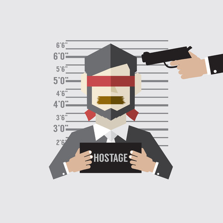 kidnap: Hostage On Mugshot With Gun Point To His Head