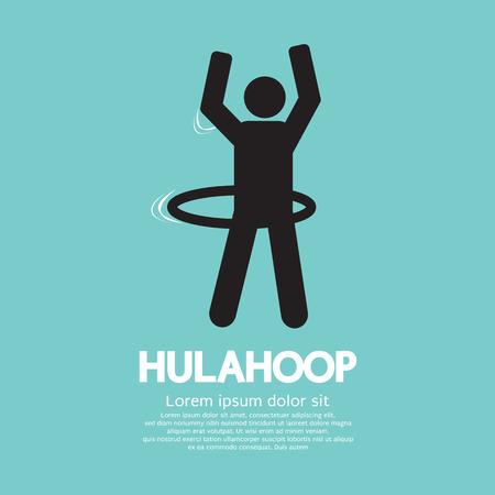 hulahoop: Human Playing A Hulahoop Symbol Vector Illustration Illustration