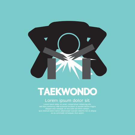 taekwondo: Taekwondo Asian Sport Symbol Vector Illustration