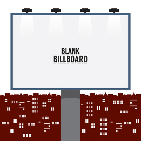 bill board: Blank Advertising Billboard In The City Vector Illustration Illustration