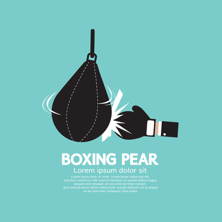 boxing equipment: Boxer Pear Boxing Gear Vector Illustration