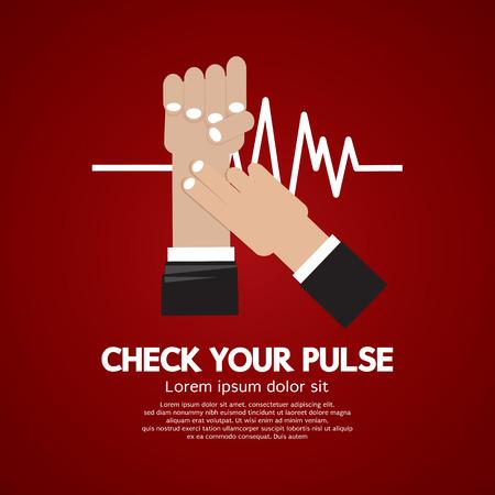 Fingers Checking Pulse Medical Concept Vector Illustration Illustration