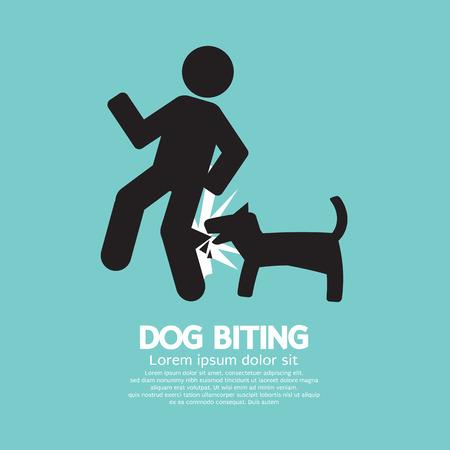 dog bite: Cane morde simbolo illustrazione vettoriale Vettoriali