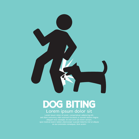 Dog Biting Symbol Vector Illustration