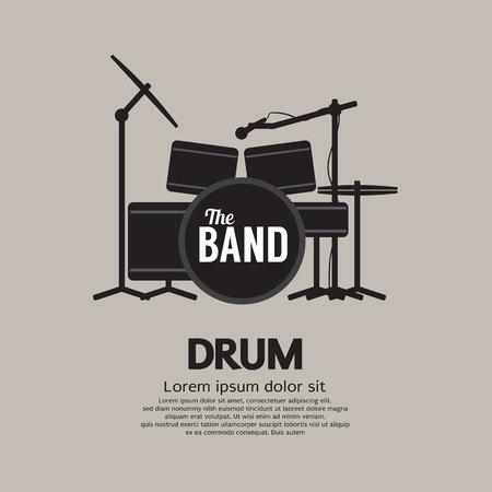 Drum Set Music Instrument Vector Illustration
