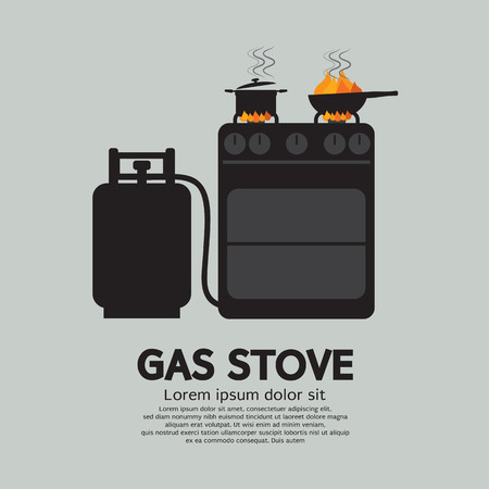 gas stove: Two Stoves With Gas Vector Illustration Illustration