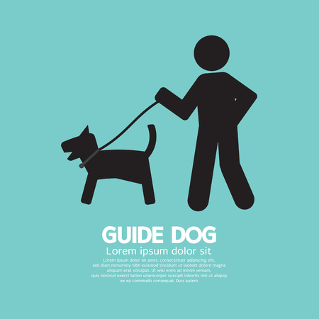 trained: Guide Dog Graphic Symbol Vector Illustration