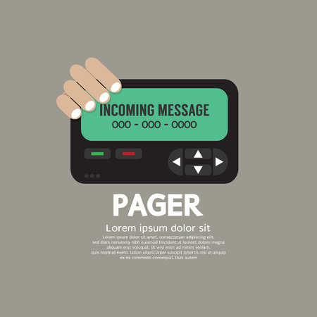 pager: Pager The Old Wireless Telecommunication Technology Vector Illustration