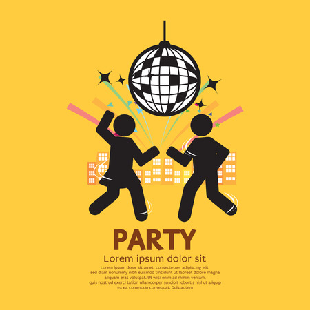 people having fun: People Having Fun At Party Vector Illustration Illustration