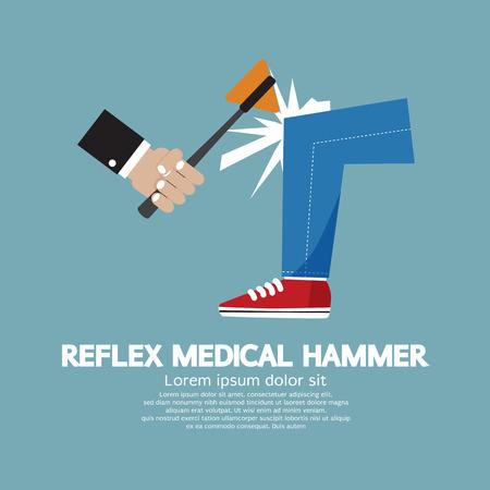 neurologist: The Neurologist Using A Hammer To Testing Knee Reflex On A Patient Vector Illustration