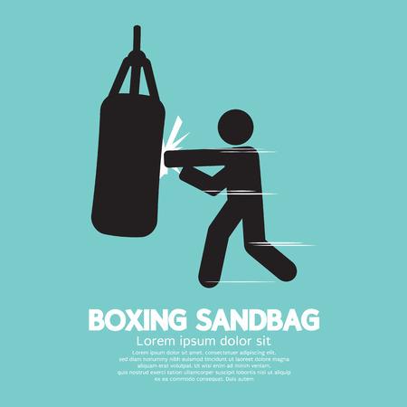 sandbag: Sandbag For Boxer Graphic Symbol Vector Illustration