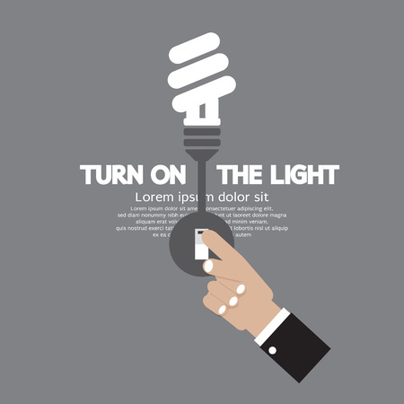 Turn On The Energy-Efficient Light Bulb Vector Illustration