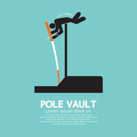 pole vault: Pole Vault Athletes Graphic Symbol Illustration