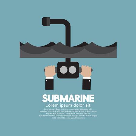 periscope: Periscope Of Submarine Under The Ocean Illustration Illustration