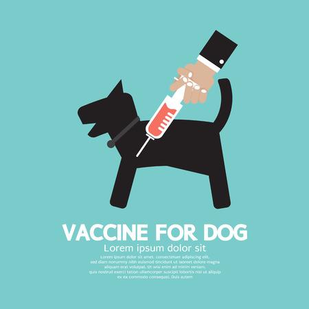 injecting: Dog Vaccine To Prevent Illness Illustration