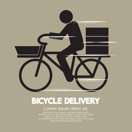 messenger: Bicycle Delivery Service Graphic Symbol Vector Illustration