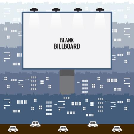 lightbox: Big Blank Advertising Billboard In Town Vector Illustration Illustration