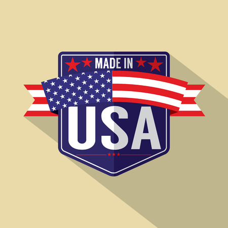 Made in USA Single Badge Vector Illustration Banco de Imagens - 33754395