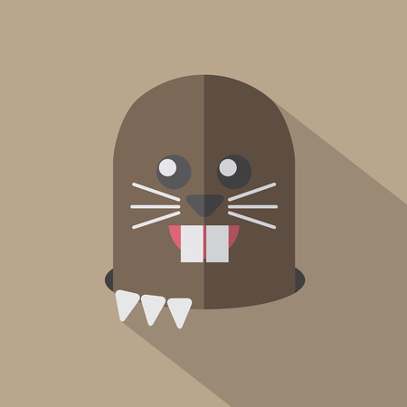 mole: Modern Flat Design Mole Icon Vector Illustration Illustration