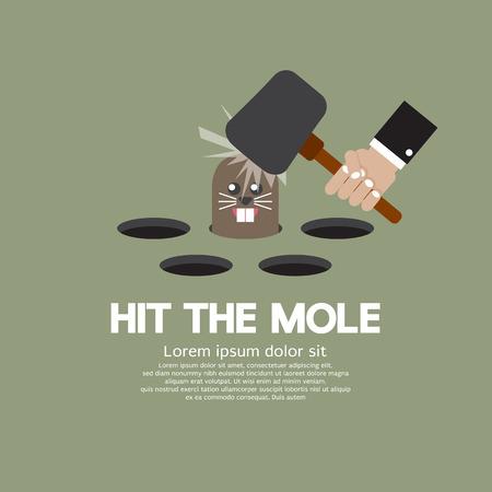 Hit The Mole Fun Game Vector Illustration Illustration