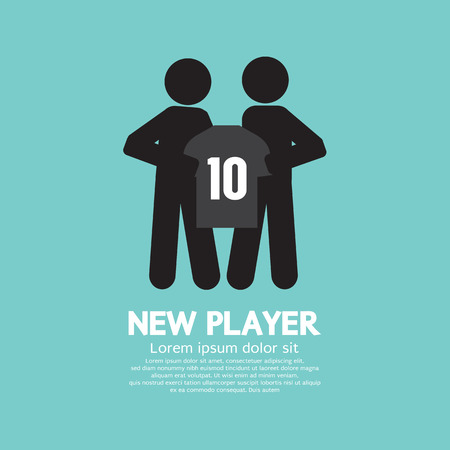 contract signing: The FootballSoccer Player Showing  A Shirt With Team Manager : A New Player Contract Signing Concept Vector Illustration Illustration
