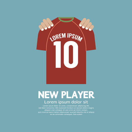 The Football/Soccer Shirt A New Player Contract Signing Concept Vector Illustration Иллюстрация