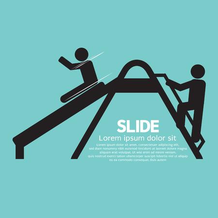 slides: Children Having Fun With Slide Vector Illustration Illustration