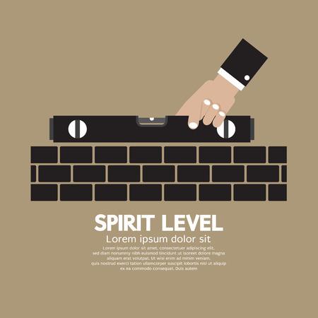 spirit level: Spirit Level Engineering Measuring Equipment Vector Illustration
