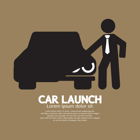 car show: New Car Launch Graphic Symbol Vector Illustration Illustration